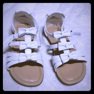 Brand new white sandals.